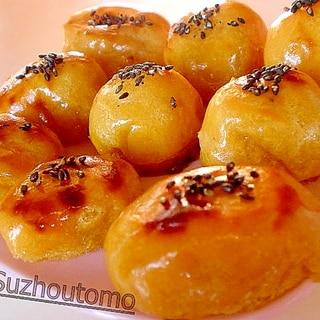 簡単です(^^* 焼き芋でスイートポテト