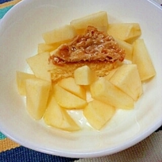 爽やか香ばし☆アップルアーモンドケーキヨーグルト♪