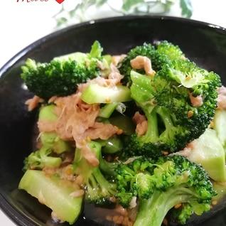 レンジ3分!無限ブロッコリー(ツナ麺つゆごま油)