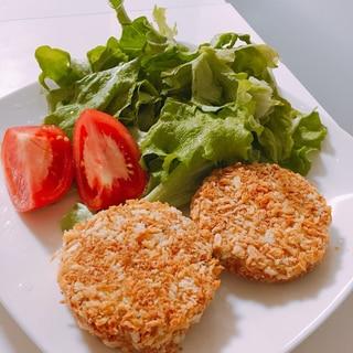 揚げずに鶏肉でキャベツメンチカツ!