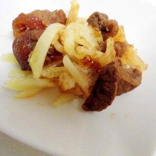 牛肉と揚げポテトのソース炒め