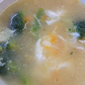 ブロッコリーと卵の中華スープ