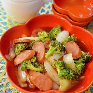 調味料1つで簡単!ウインナーと野菜のチリソース炒め