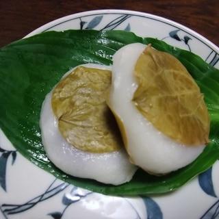 サルトリイバラの葉で作る柏餅