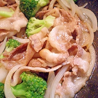 和風☆肉野菜炒め(ブロッコリー・玉ねぎ・豚バラ)