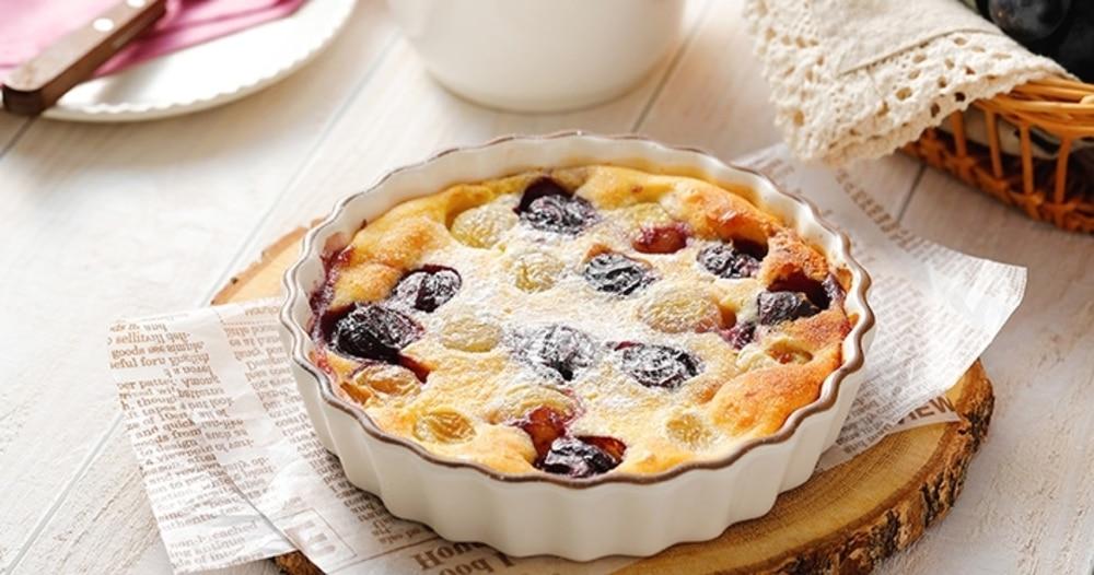 「ぶどうのクラフティ」レシピ