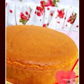 もっちりふかふか米粉のスポンジケーキ