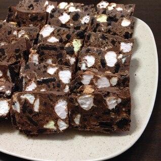 バレンタイン☆オレオとマシュマロで簡単チョコレート