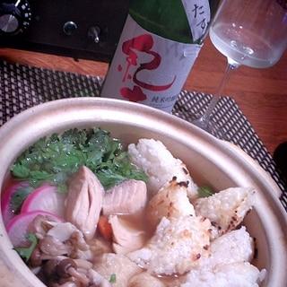 本日は鮭、きりたんぽの日、鮭のきりたんぽ鍋
