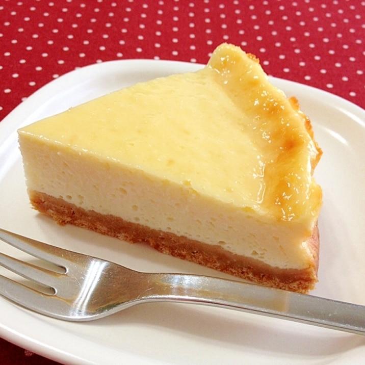 水切りヨーグルトde☆ベイクドチーズケーキ風