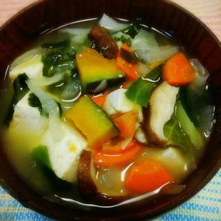 ファイトケミカルスープの素で豆腐味噌汁(^o^)