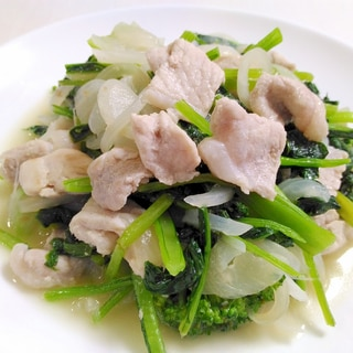 ウェイパーで☆豚肉と小松菜の中華炒め