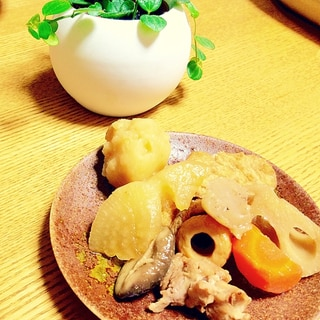 圧力鍋でほっこり!根菜ととり肉のお煮しめ