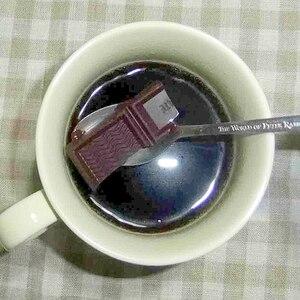 ココアコーヒーにチョコレート