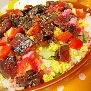 カツオの漬けちらし寿司