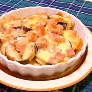 茄子とハムのチーズ焼き