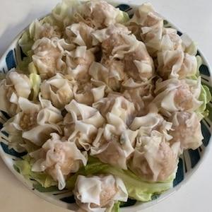 レンジ蒸しで簡単!鶏挽き肉の焼売