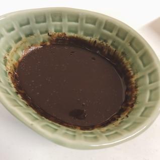レンジで簡単♪材料2つのチョコレートソース