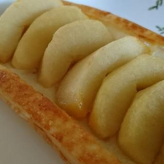 春巻きの皮で歯ごたえありアップルパイ