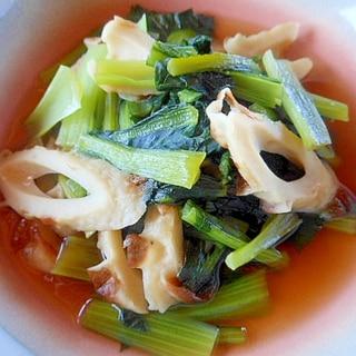 簡単箸休めに~小松菜と竹輪の煮浸し