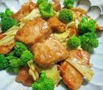 鶏むね肉のカレーマヨ炒め