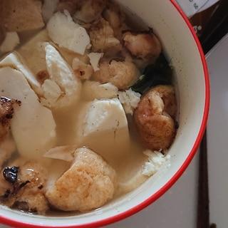 お豆腐たこ焼きコンソメスープ