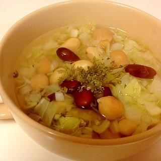 ◎豆ミックスで春キャベツスープ◎