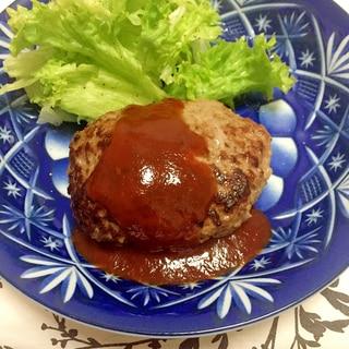 手作りソースかけて〜 合挽き肉のハンバーグ ♪