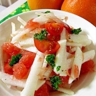 大根とピングレの紅白イタリアンサラダ