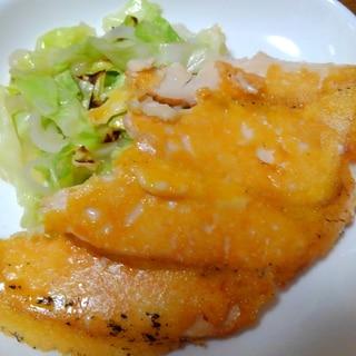 蒸し鶏のこんがりチーズ焼き