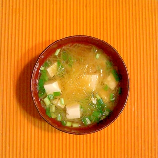 そうめん南瓜と豆腐の味噌汁♪