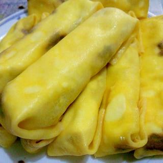 焼かない簡単! 春巻きの皮 de バナナクレープ!