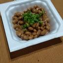 海苔佃煮の酢納豆♡