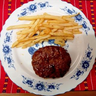 ハロウィンに簡単ハンバーグステーキ