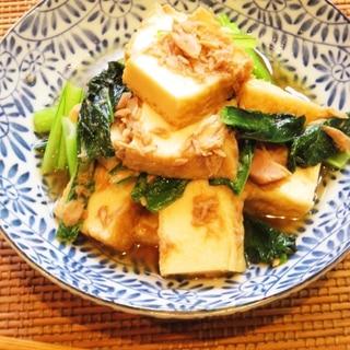 ☺すぐできて簡単♪厚揚げと小松菜とツナのさっと煮☺
