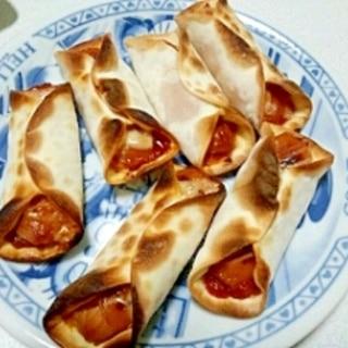 餃子の皮でウインナーパイ