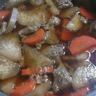 馬肉煮込み(醤油味)