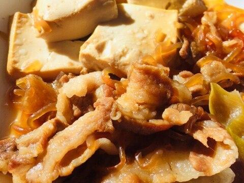 豚バラ肉のすき焼き煮