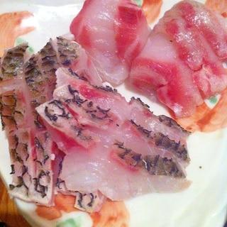 ちぬ鯛の湯引き おろしポン酢で