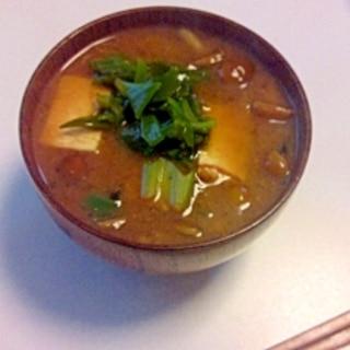 生めかぶの味噌汁