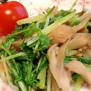 ささっとできる水菜とツナ炒め物