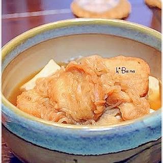 油麩と豆腐の煮つけ