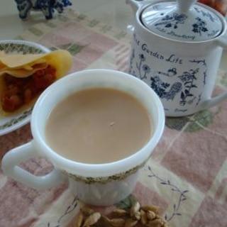 インド風ミルクティー カルダモンと生姜