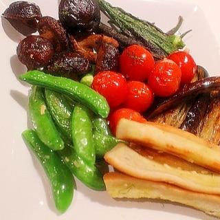 魚焼きグリルで簡単 ロースト野菜のホットサラダ