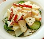 かぶときゅうりとりんごサラダ