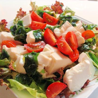 ポン酢とよく合う★くずし豆腐サラダ~♪