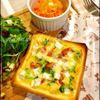 半端野菜をおしゃれに変身!簡単キッシュトースト♪