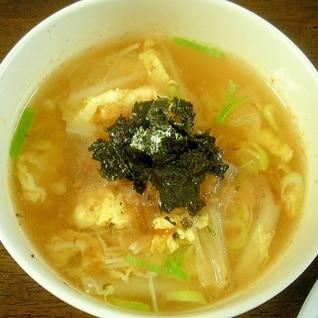 キムチの素で!簡単スープ