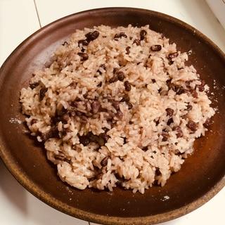無水鍋(フライパン)で簡単お赤飯