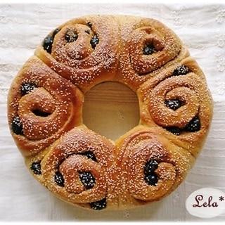 黒豆ときな粉のリングパン